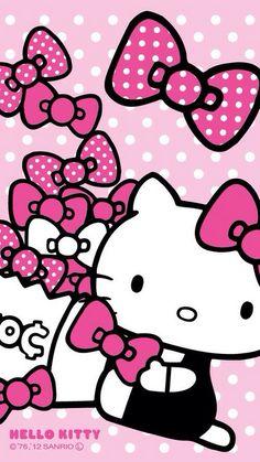 Download Gratis Wallpaper Hello Kitty Pink Animasi Bergerak Terbaru
