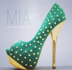 High heels Teal