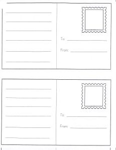 Dramatic Play Center Ideas Post Cards~ play Learning our addresses. Idea: Have children write a letter to send to their own home. Chart how long it takes the child to get their post card. Have an address book available in the writing center for Dramatic Play Area, Dramatic Play Centers, Kindergarten Writing, Kids Writing, Writing Centers, Letter Writing, Writing Center Preschool, Kindergarten Freebies, Writing Ideas
