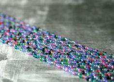 Pastel Seed Bead Bracelet by ThreeFatesDesign on Etsy, $28.00