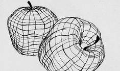 Cross Contour Drawing Apple, Basic Drawing, Drawing Skills, Drawing Lessons, Drawing Techniques, Art Lessons, Teaching Drawing, Teaching Art, Cross Contour Line Drawing