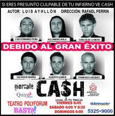 CASH ¿Cual es tu precio?   Obra de teatro Movies, Movie Posters, Plays, Author, Films, Film Poster, Cinema, Movie, Film
