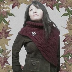 Katniss Cowl Sweater - Free pattern by Fad Fabulous Crochet