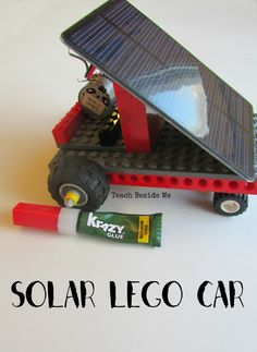 Check out this awesome solar powered Lego Car - what a great science project for teaching kids about solar energy and the environment. energy projects for kids Stem Projects, Lego Projects, Science Projects, Engineering Projects, Awesome Science Fair Projects, Upcycling Projects, Solar Car, Diy Solar, Legos