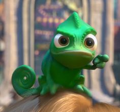 Disney Challenge Day 11- Pascal! He gives so much expression throughout the movie without even having to talk.