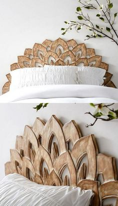 unglaublich 33 Best Bed Headboards for Your Out-of-the-Box Bed - Bett ideen Decoration Bedroom, Diy Home Decor, Flower Decoration, Decor Room, Cama Box, Diy Casa, Box Bed, Headboards For Beds, Headboard Ideas