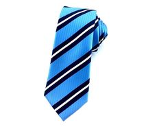 Sky Blue with Navy Blue White Stripes Skinny Ties Beach Wedding Outfit Guest, Beach Wedding Groomsmen, Wedding Men, Blue Stripes, Navy Blue, Blue And White, Blue Wedding Flowers, Blue Colour Palette, Skinny Ties