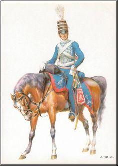 Allemagne - Tritt W. Allemagne 1748-1871 - Les costumes militaires -1806-1809, Husar