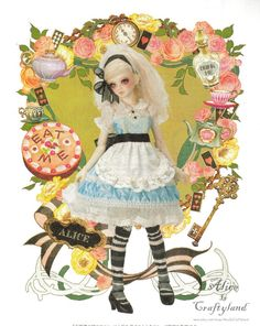 "Alice in Wonderland Outfit BJD Sewing Pattern  MSD 1/4 42cm ( 16"" ) PDF. $6.90, via Etsy."