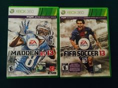 FIFA Soccer 13  (Xbox 360, 2012)  AND Madden NFL 13