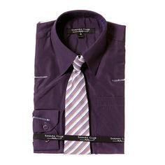 Solid Shirt and Tie Set (4-7)