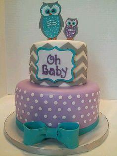 Purple & Blue Cake