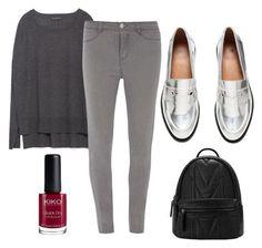 Brillo metálico para trabajar desde casa by visionestilo on Polyvore featuring moda, Zara, Dorothy Perkins and H&M