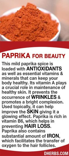 Paprika is loaded with antioxidants as well as essential vitamins & minerals that can keep your body healthy. Its vitamin A plays a crucial role in maintenance of healthy skin, prevents the occurrence of wrinkles, & promotes a bright complexion. Used topi Health And Nutrition, Health And Wellness, Health Fitness, Nutrition Store, Healthy Tips, Healthy Choices, Healthy Skin, Natural Medicine, Herbal Medicine