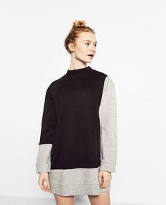 Image 2 of OVERSIZED SWEATSHIRT DRESS from Zara
