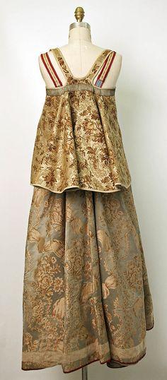 The Metropolitan Museum of Art - Ensemble 19th century Culture: Russian Medium: silk, cotton or linen Dimensions: (a) Length at CB: 41 in. (104.1 cm) (b) Length at CB: 17 1/2 in. (44.5 cm)