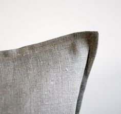 for living room: 2 Linen pillow covers grey  decorative covers  throw by pillowlink, $36.00