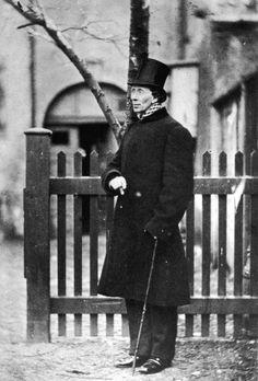 Hans Christian Andersen (Dänischer Autor von Märchen) - Fotografie aus Kopenhagen, 1862.