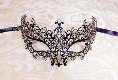 Elegant Minimal Luxurious Black Laser Cut Masquerade by 4everstore, $29.95