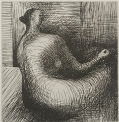 Henry Moore – Seated Figure with Architectural Background, 1979, Etching