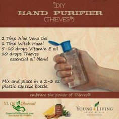 In case you run out of your Thieves Hand Purification gel, here's a DIY recipe. YL#1146129