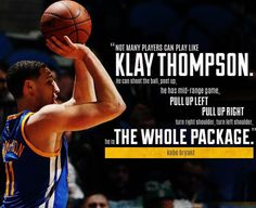 High praise for Klay Thompson. #NBAVote