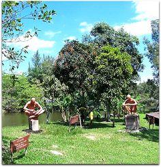 Aldea taina (aborígenes) en Ciénaga Zapata. Cuba