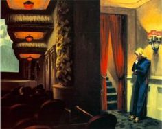 'New York Movie' by Edward Hopper; paint on canvas
