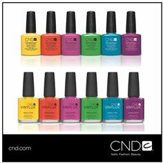 Escape to Paradise with NEW lush and tropical CND Shellac™ and VINYLUX™ Summer shades! To see the collection click here: http://www.cnd.com/products/summer-paradise-collection