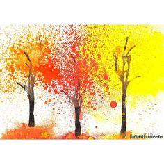 детский рисунок на тему осень карандашом: 50 тыс изображений найдено в... ❤ liked on Polyvore featuring backgrounds