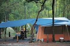Instead of heading back to the city after sunset, why not spend the night in Fraser Island's wilderness! Fraser Island, Wilderness, Camping, Patio, Sunset, City, Outdoor Decor, Campsite, Sunsets