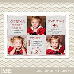 Christmas Holiday Mini Session Photography by ClickChicksDesigns, $8.00