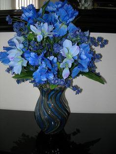Blue Silk Floral Arrangement