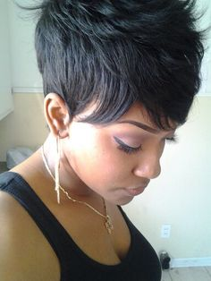 Tapered pixie w spikes