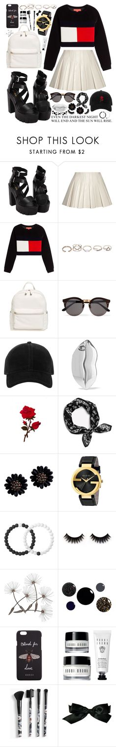 """""""153. Don't you worry your pretty little mind, people throw rocks at things that shine"""" by misspyromaniac ❤ liked on Polyvore featuring Alexander Wang, Hilfiger Collection, GUESS, BP., Illesteva, rag & bone, STELLA McCARTNEY, Gucci, Lokai and Torrid"""