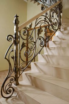 Banister. Private interior. Manual forging, welding.