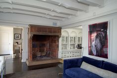 Mr. Martin and his wife, Emily, a former attorney, are selling because with four young children they say they have outgrown the house. The Martins will miss the large living room fireplace. 'It made Santa Claus very believable because [our children] thought he could fit down it,' says Mr. Martin.