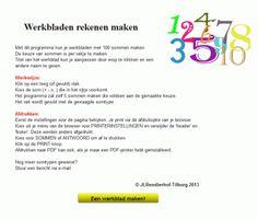Met dit programma kan je werkbladen maken voor groep 3 tot en met 8. Klik op de afbeelding voor meer informatie.