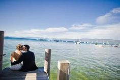Lake Tahoe Wedding Lake Tahoe Weddings, Rustic Weddings, Stone Fireplace Surround, Rustic Elegance, Wedding Locations, New York Skyline, Wedding Photography, High Ceilings, Places