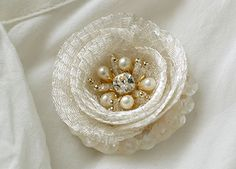 Haute couture embroidery production example brooch