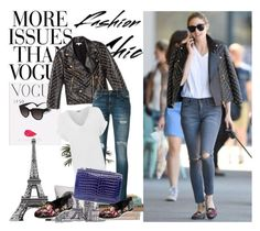 Olivia Palermo by gabriela2105 on Polyvore featuring moda, WearAll, Current/Elliott, Rebecca Minkoff, Analeena, Nearly Natural and WALL