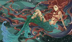 Ariel shedding her tail #mermaid