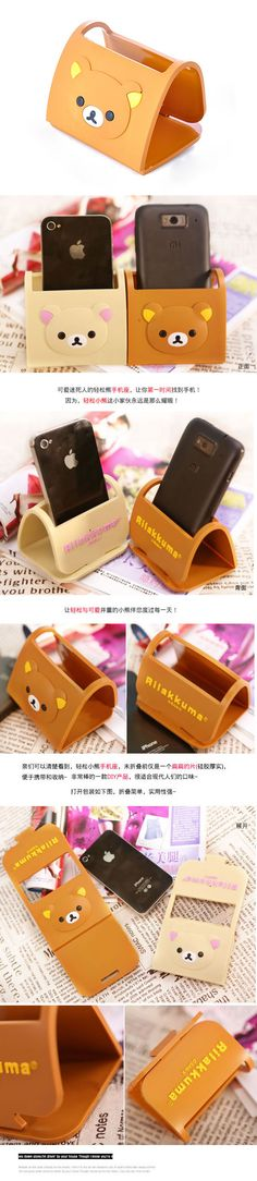 f33794d3264 Korean creativity fashion bear pattern iPhone 4 foldable mobile phone  holder (1pcs price)(