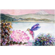 Trademark Fine Art Hummingbird's Joy Canvas Art by Wendra, Size: 18 x 24, Multicolor