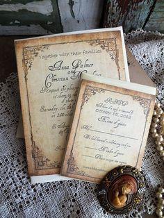 Vintage Wedding Invitation Suite Sample by AVintageObsession, $5.00