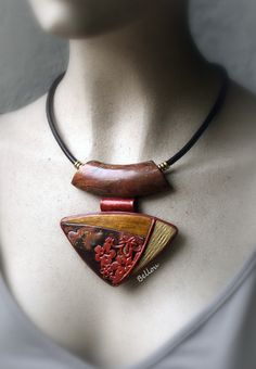Collier pendentif ethnique chic : Collier par bellou