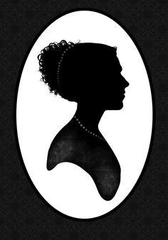 Jane Austen Silhouette Png 72054 | ZWALLPIX