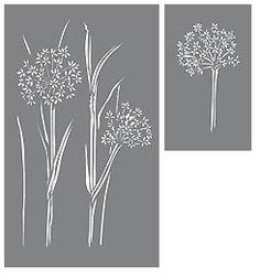 Cow Parsley Stencil. Wild Flower Botanical Stencils