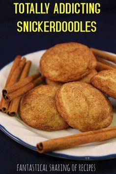 Totally Addicting Snickerdoodles | Bet you can't eat just one of these puffy, melt-in-your-mouth #cookies
