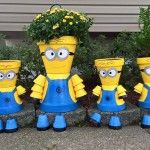 Minion Flower Pot People